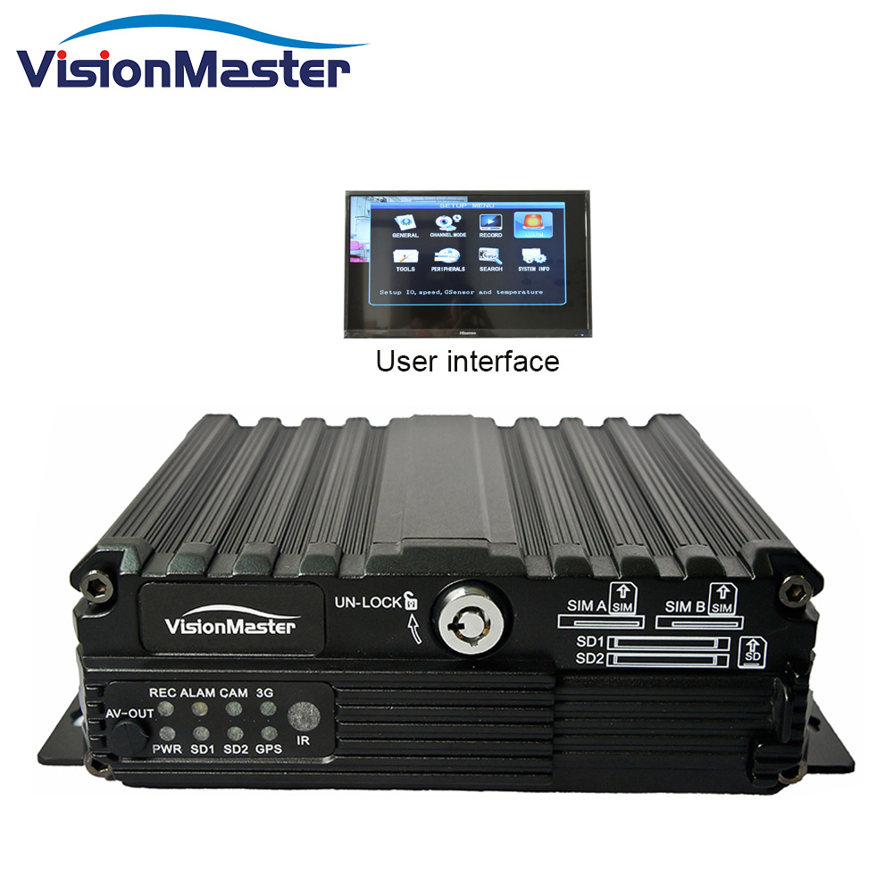 4ch SD card GPS and 4g mdvr vehicle camera system