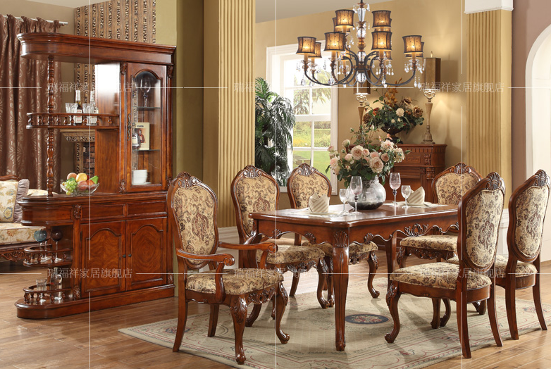 Federal Style Sectional Dining Table With Fabric Chairs For Room Sets Aa 233