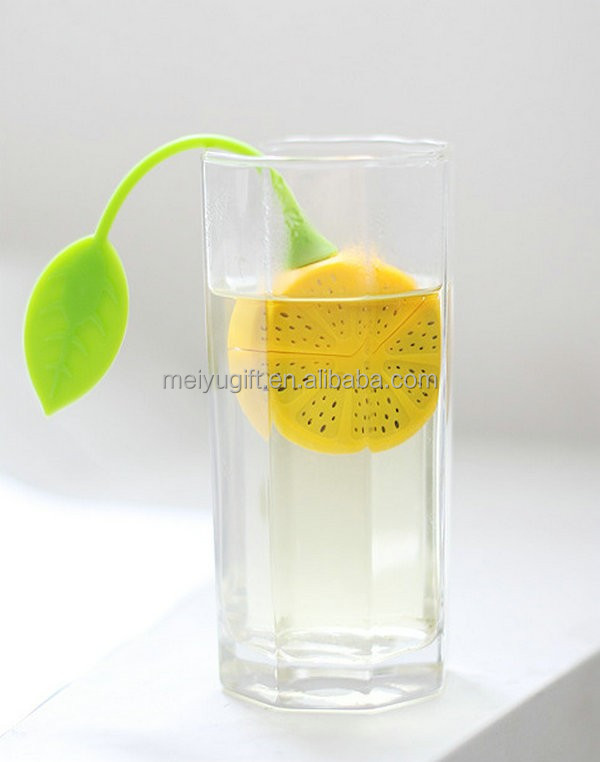 Direct price lemon shape silicone tea infuser & lemon design tea strainer for make tea