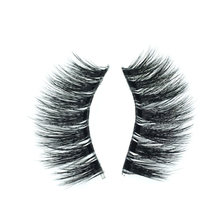 Low MOQ hollow out laser cut faux fur mink fabric eyelashes