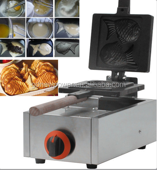 Commercial and hot sale fish shape waffle maker/fish shape waffel machine/waffel baking machine for sale Model NP-GFM