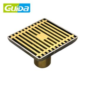 Guida Brand Ningbo 4 inch square bathroom automatic floor drain trap