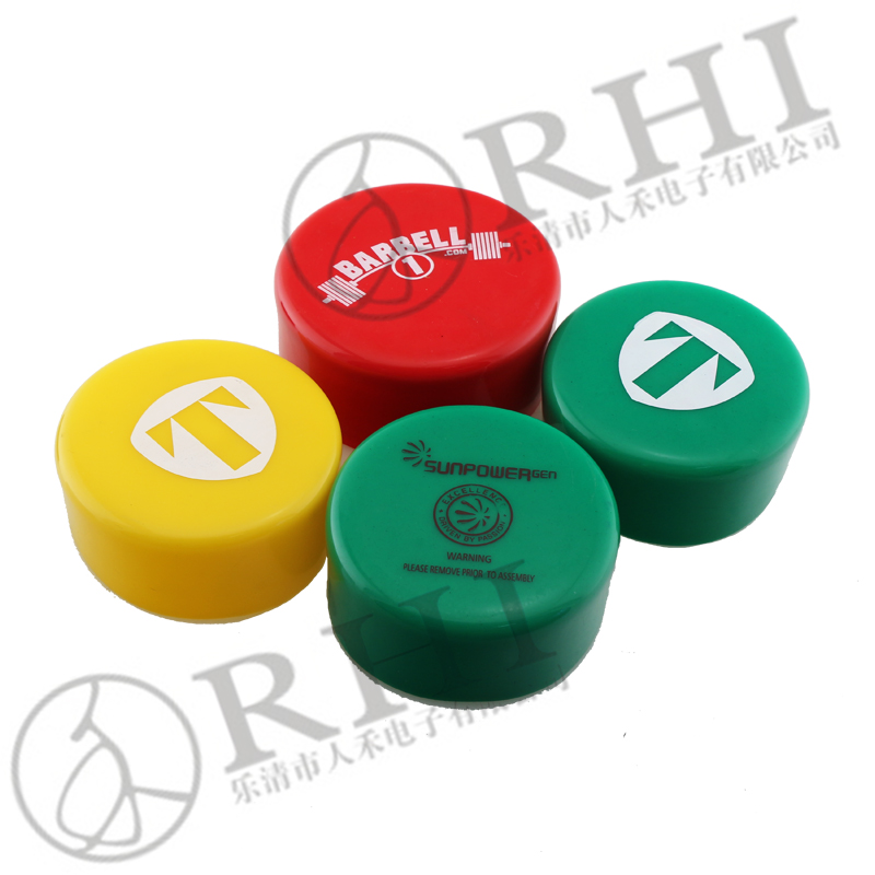 Flat Ball Valve Handle Sleeves Rectangular Plastic Rubber Handle Grips