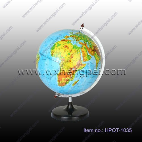 Educational World Globe With Stainless Steel Ruler