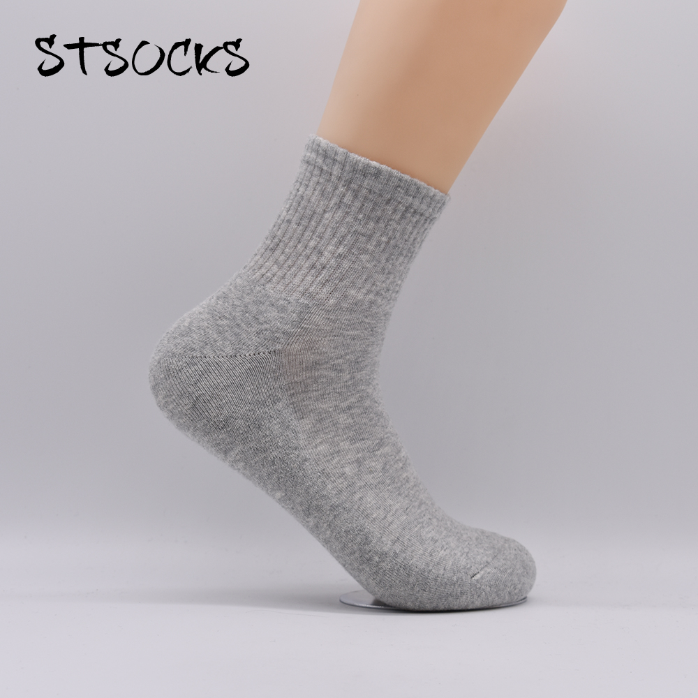 200N High Density Terry Towel Solid Color Business Casual Knitting High Quality Male Crew Socks
