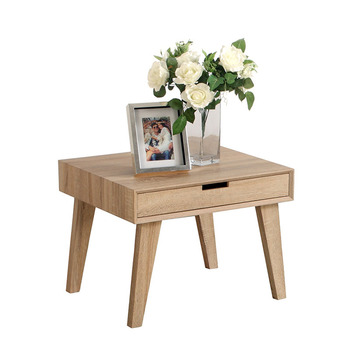 2017 Living Room Set Coffee Table Scandinavian Style Oak Color With Drawers  Kd Flat Packing