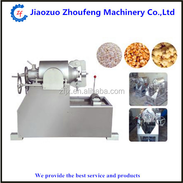 Grain airflow puffed rice machine for Popcorn Snack Food (Skype:zhoufeng1113)