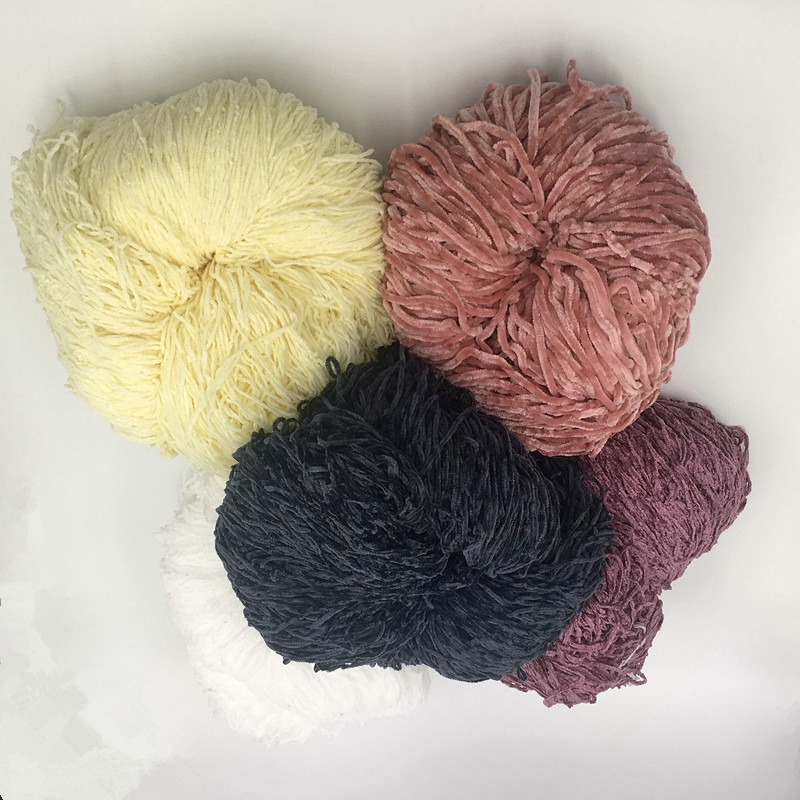 100% Acrylic and Polyester chenille yarn for knitting scarf