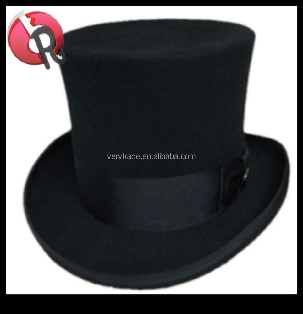 Black Felt Formal Top Hat