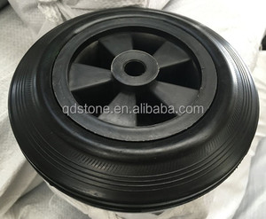 6 inch solid PU caster wheels for luggage barrow