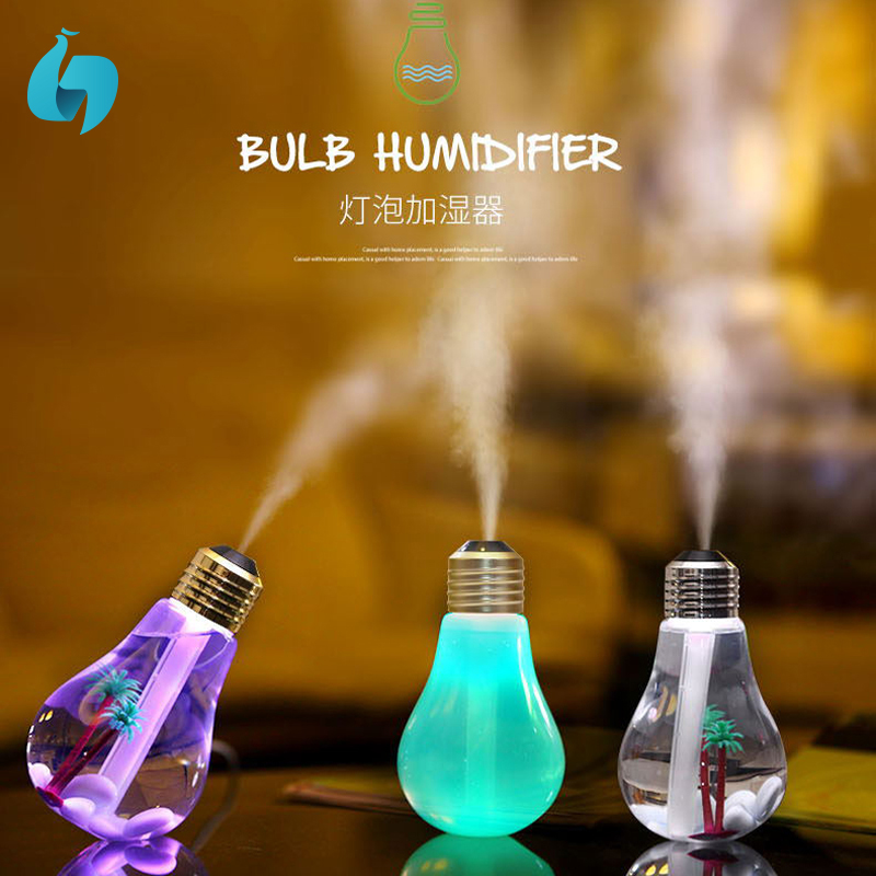 bulb shape mini usb portable operated popular air humidifier aroma therapy difuser