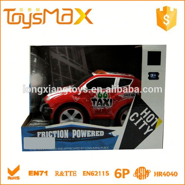 Hot selling Taxi Model friction power toys cars with EN71 Certificate