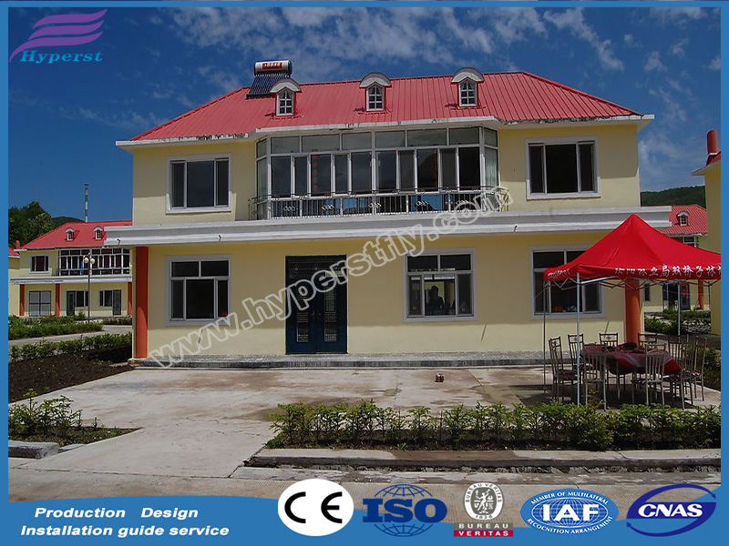 Prefabricated light gauge steel framing villa light steel villa prefab house