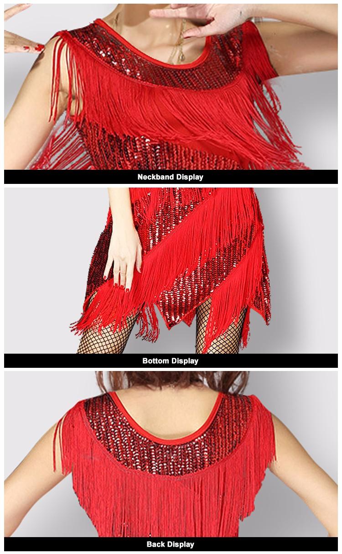 eadd49c1a2c Red Fringe Dress Shiny Tight Womens Party Night Ladies Sexy Club Dresses