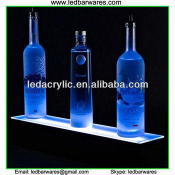 Illuminated Floating Light Shelf Display Led Liquor Cabinet Bottle Bar Shelves