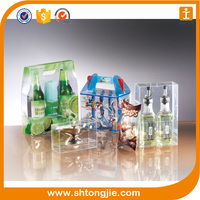 custom small folding transparent clear pvc pet plastic gift packaging box