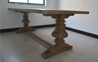 french country antique rustic recycled oak wooden table handcrafted wholesale dining table