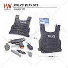 Pretend Play Toys Police Play Set Bullet-proof Vest Gun Knife Water Bottle Interphone Grenades COS Children Toys (HM9F)