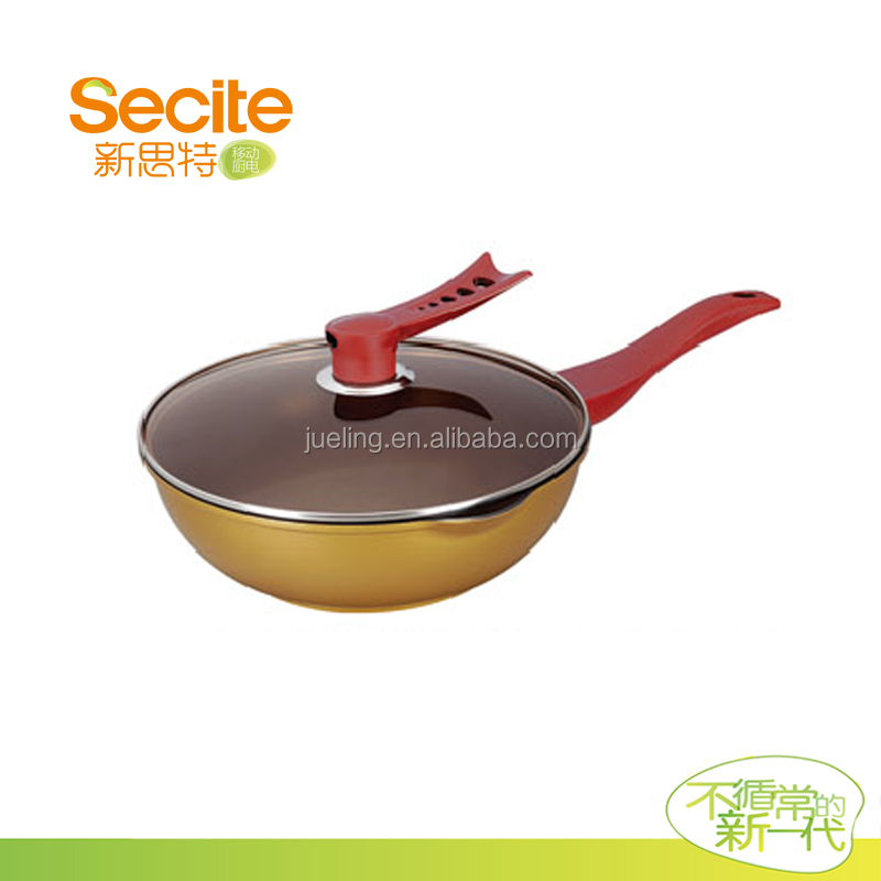 non-stick cookware sets die casting sauce fry pan with glass lid
