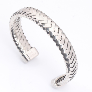 Sterling Silver Bangle Bracelets Wholesale Fashion Mesh Mens