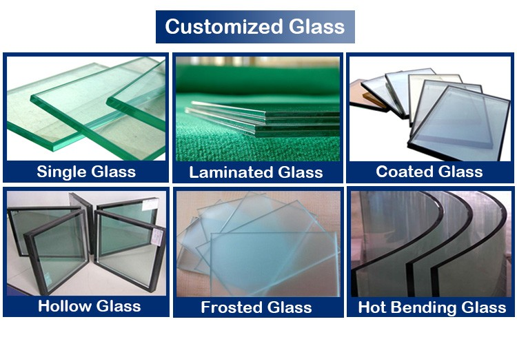 Aluminum frame tempered glass factory supply glass louver windows for sale