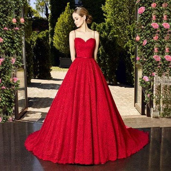 1896f532aeb0 Lace Islamic Women Red Wine Wedding Dresses For Small Size Girls ...