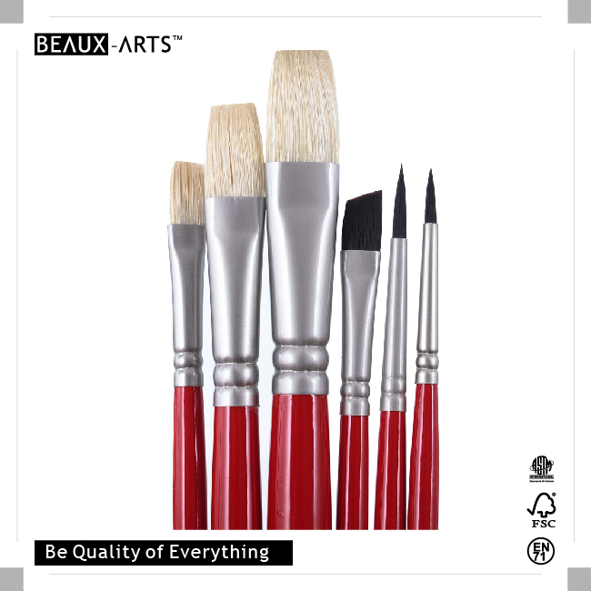 Chile Nationality Series Top Hog Bristle And Taklon Oil Paint And Acrylic Artist Paint Brush Set
