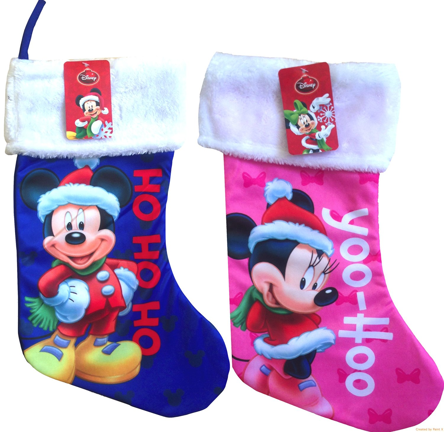 disney christmas disneyland character stockings mickey and minnie