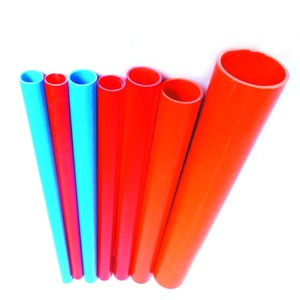 Customized Colored Brown Pink Red White Blue PVC Electric Pipe