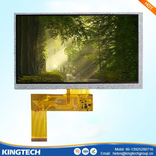 7 inch open frame tft lcd monitor 800X480 full view touch screen
