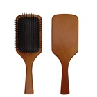 Wholesale natural wooden custom logo nylon cushion paddle hair brush