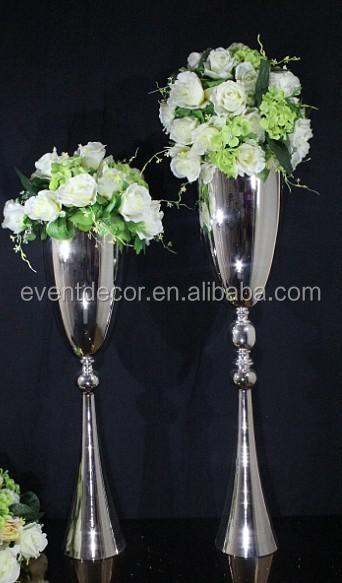 Trumpet Silver Flower Vasewrought Iron Flower Stand Centerpieces