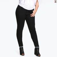 2017 newly style hot sale stretch skinny jeans for fat sexy women(JXC00260)