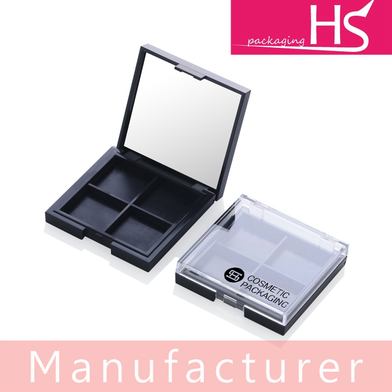 HS new promotion empty square 4 color eye shadow palette packaging