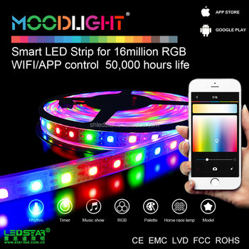 christmas app control led programmable rgb strip smart mobile phone light 14w