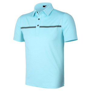Custom 3D Embroidered Logo Breathable Golf Polo Shirt