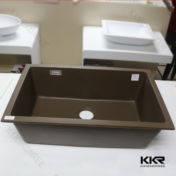 Modified Acrylic Undermount Porcelain Kitchen Sink Double