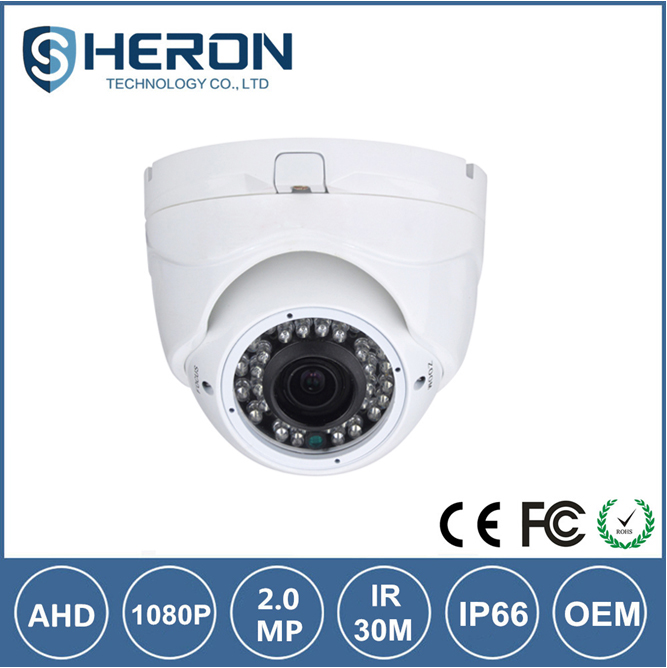 HD Analog terminator 1080P ahd cctv camera with varifocal lens