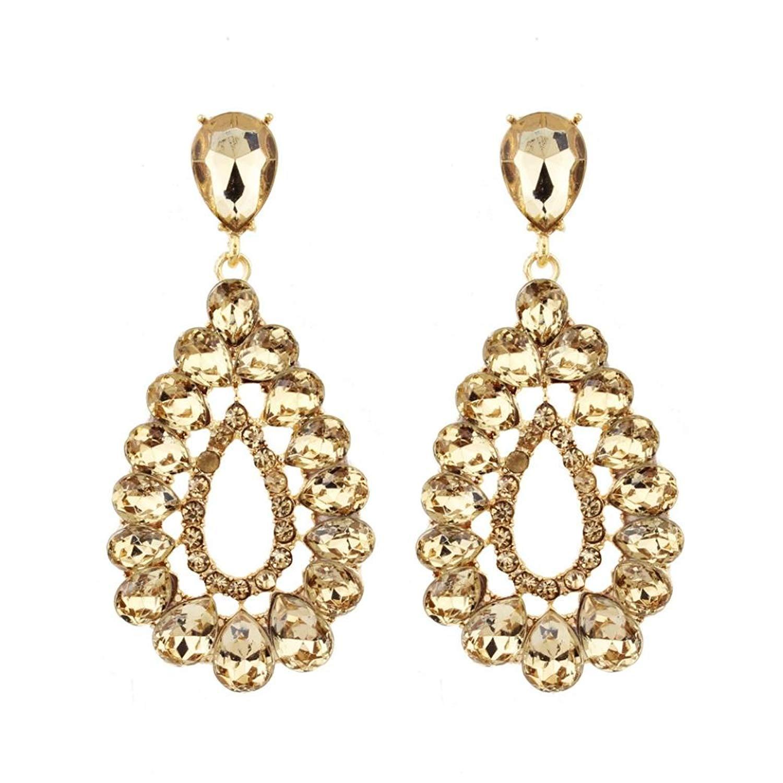 Gyoume Dangle Earrings Women Girls Diamond Drop Earrings Pendant Earrings Ornaments
