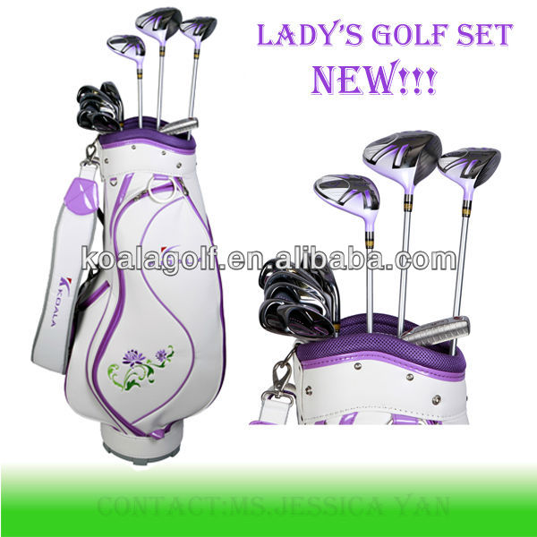 Ladies golf club set and golf hand bags,Custom new Lady golf set