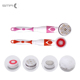 Private Label 4 in 1 Long Handle Plastic Electric Battery Operated Bath Shower Body Cleaning Brush with Mesh Sponge Head