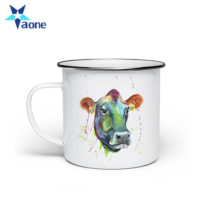 Wholesale Vintage Custom Logo Printing Enamel Mugs and Plates Manufacturer in China