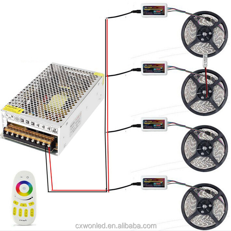 20A Power Supply and Wifi Remote Controller 20M RGB 5050 60LED IP65 Waterproof LED Flexible Strip