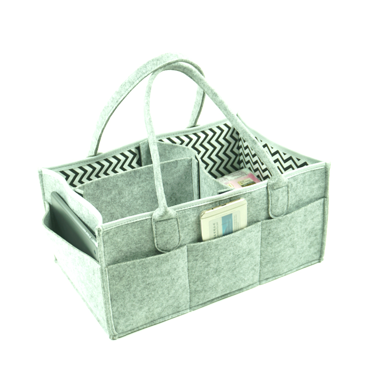 Fast delivery hanging travel baby bag popular best design felt diaper bag organizer for Mom
