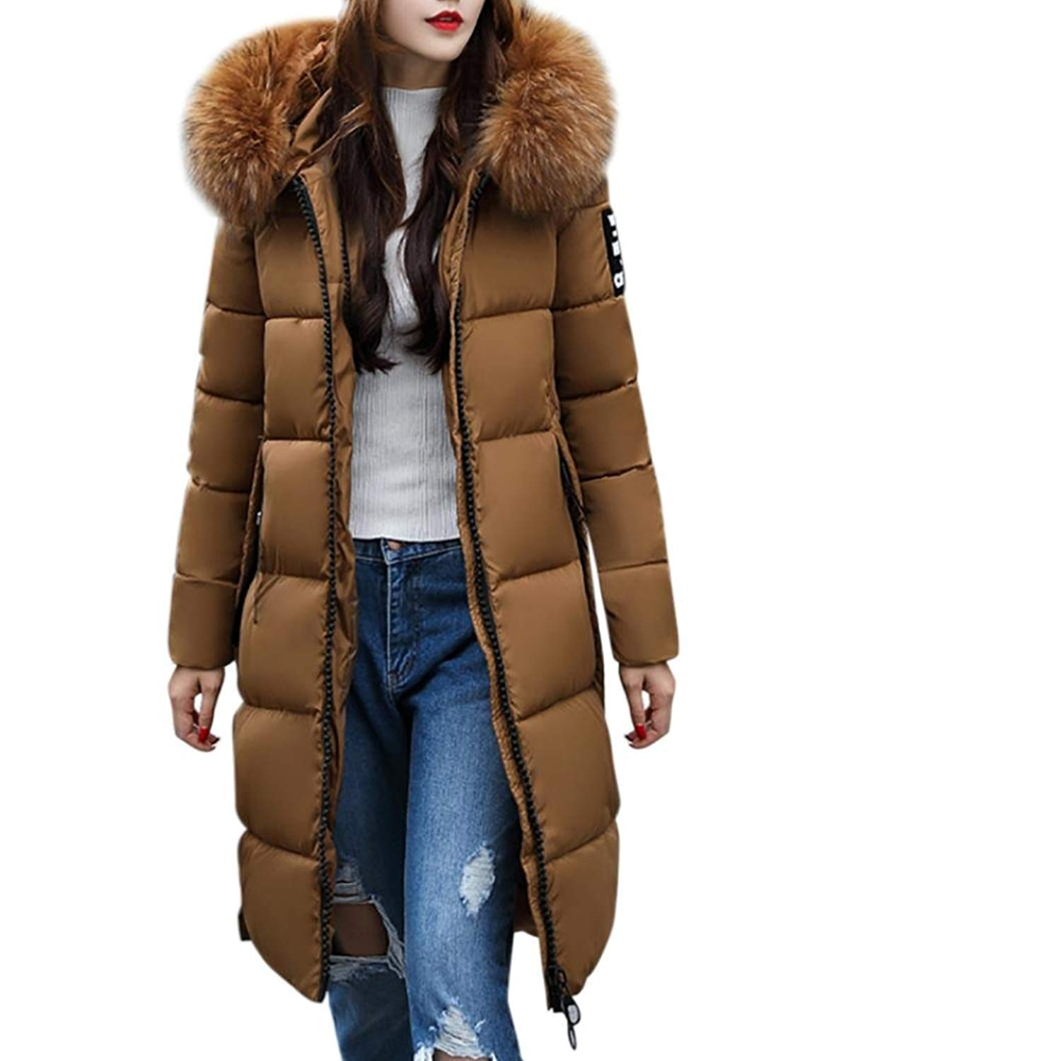 Thicker Down Coat, Hometom Women Solid Casual Thicker Winter Slim Down Lammy Jacket Coat Overcoat