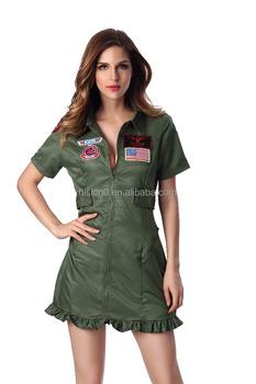 Latest Las Y Army Green Costume High Quality Fashion Show Dress
