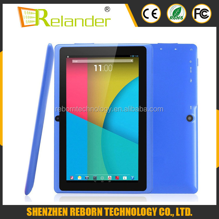 "Free shipping cost Manufacturer supplier cheap Android tablet 7"" Quad Core A33 q88 Android 4.4 shenzhen tablet <strong>pc</strong>"