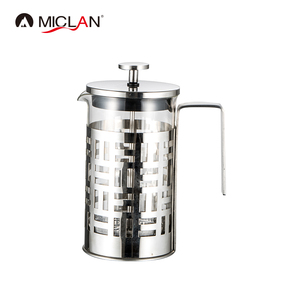 private label glass french press coffee maker filter
