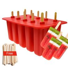 Ice Pop Makers Silicone Del Commestibile Della Muffa Ghiacciolo Ice Cream Vassoio Fredda di <span class=keywords><strong>Estate</strong></span> IceMold Con 50 pcs Popsicle adesivi
