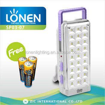 Lonen Small Battery Powered Rechargeable Emergency Light Led